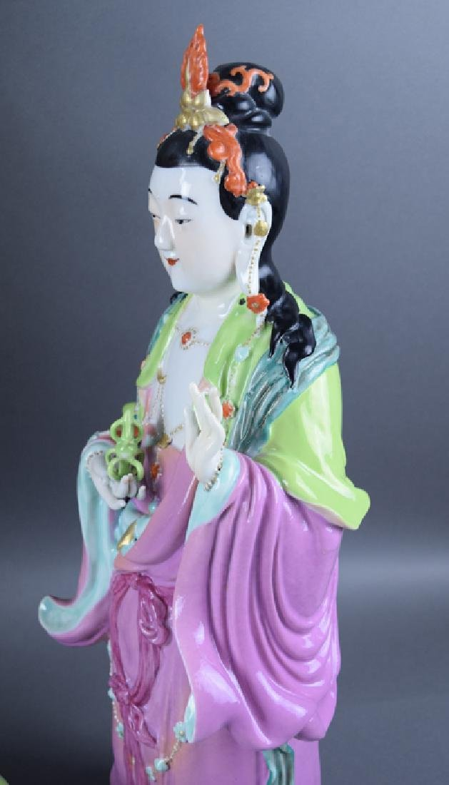 Chinese Republic famille rose porcelain Vajrasattva - 4