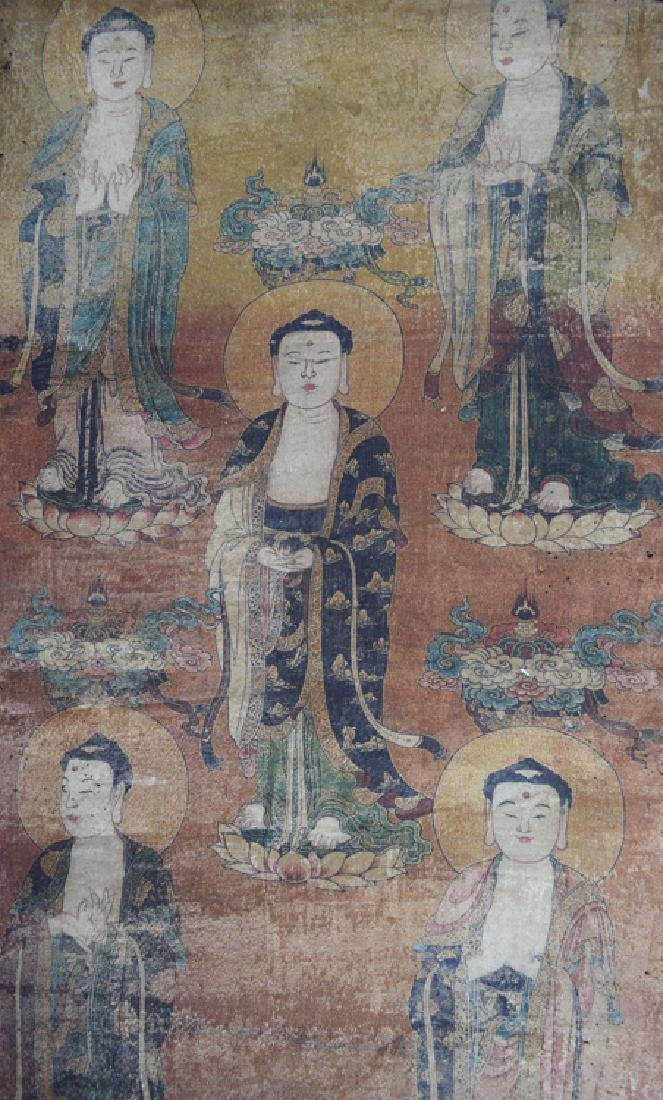 Chinese watercolor Buddhist painting - 2