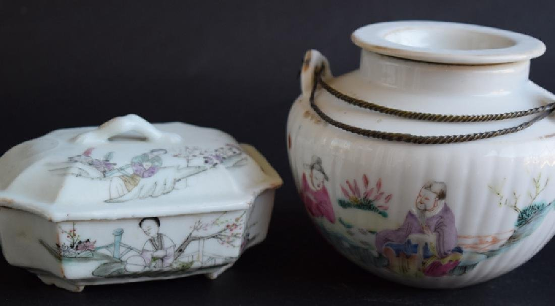 Two Chinese Qing porcelain tea set - 2