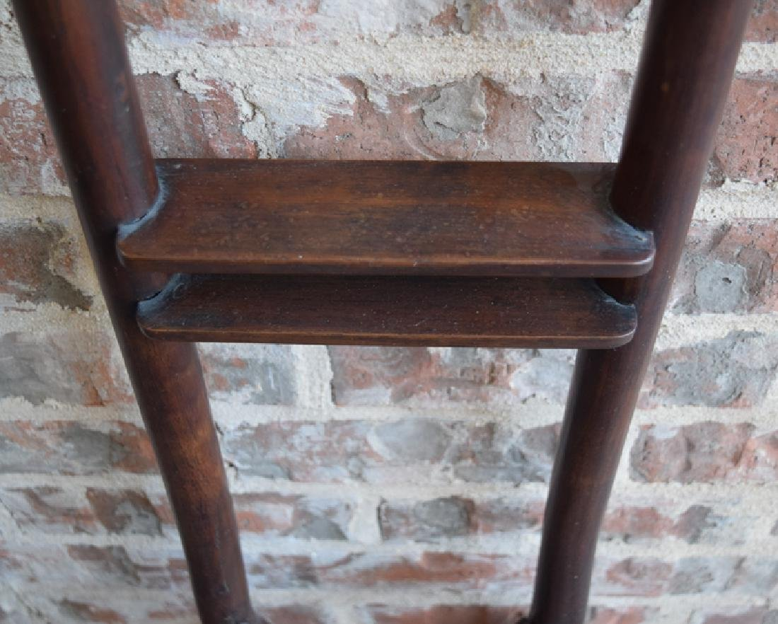 Chinese Qing rosewood wash basin stand - 4
