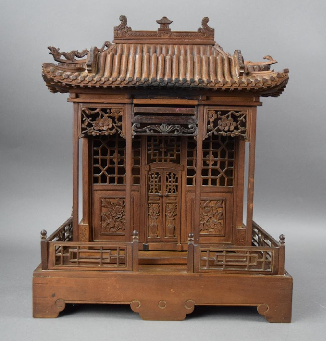 Chinese late Ming-early Qing carved Jinsi Nanmu