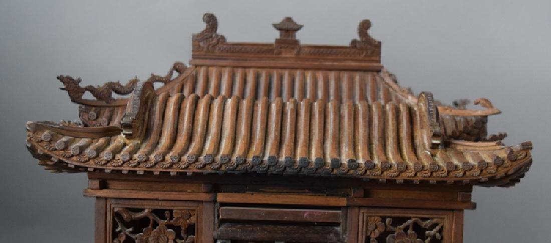 Chinese late Ming-early Qing carved Jinsi Nanmu - 3
