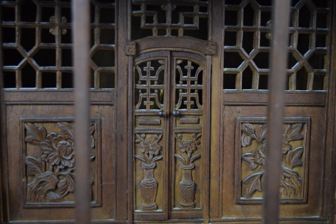 Chinese late Ming-early Qing carved Jinsi Nanmu - 4
