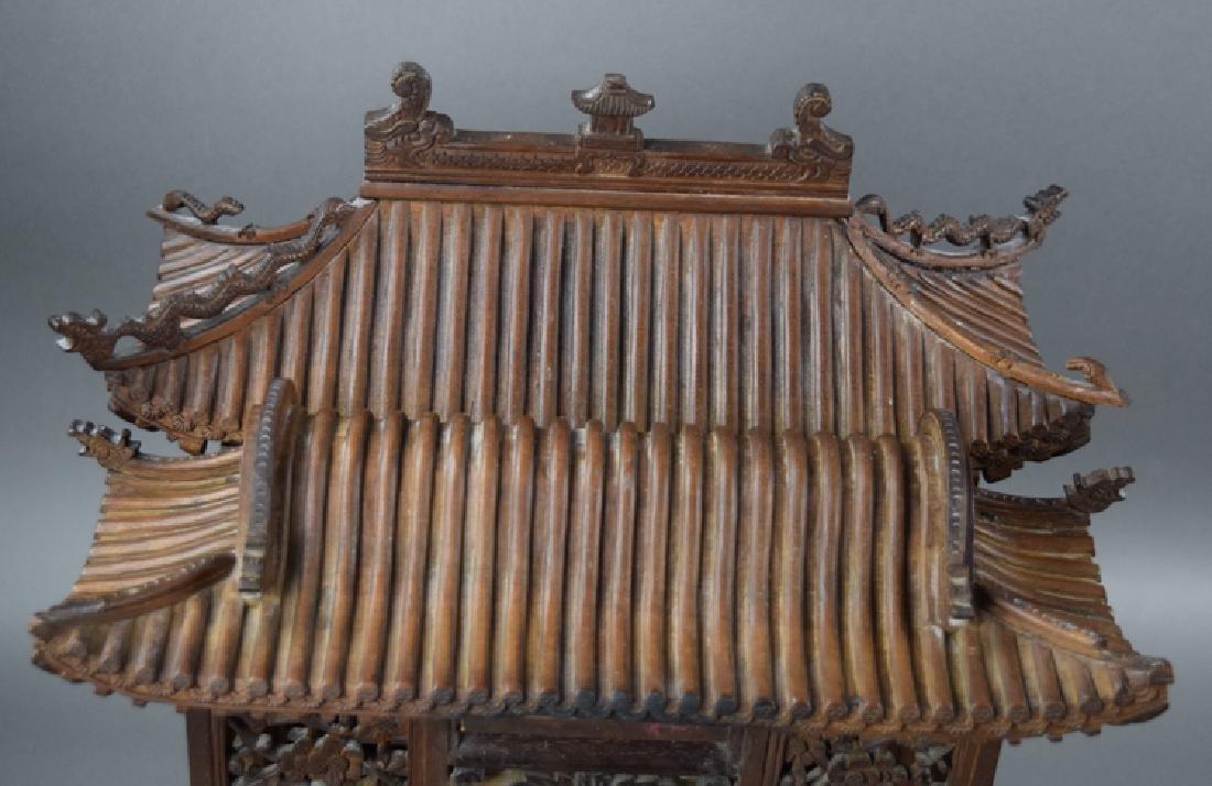 Chinese late Ming-early Qing carved Jinsi Nanmu - 5