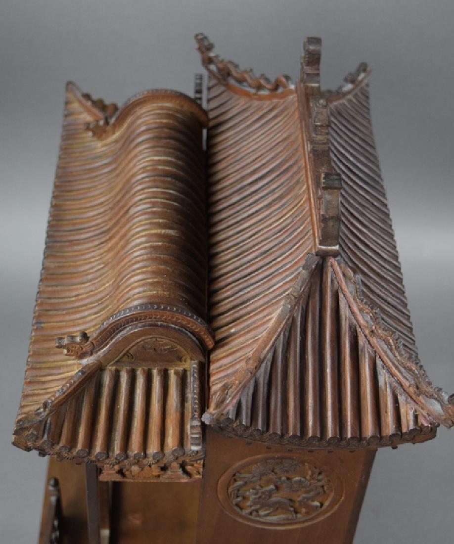 Chinese late Ming-early Qing carved Jinsi Nanmu - 7