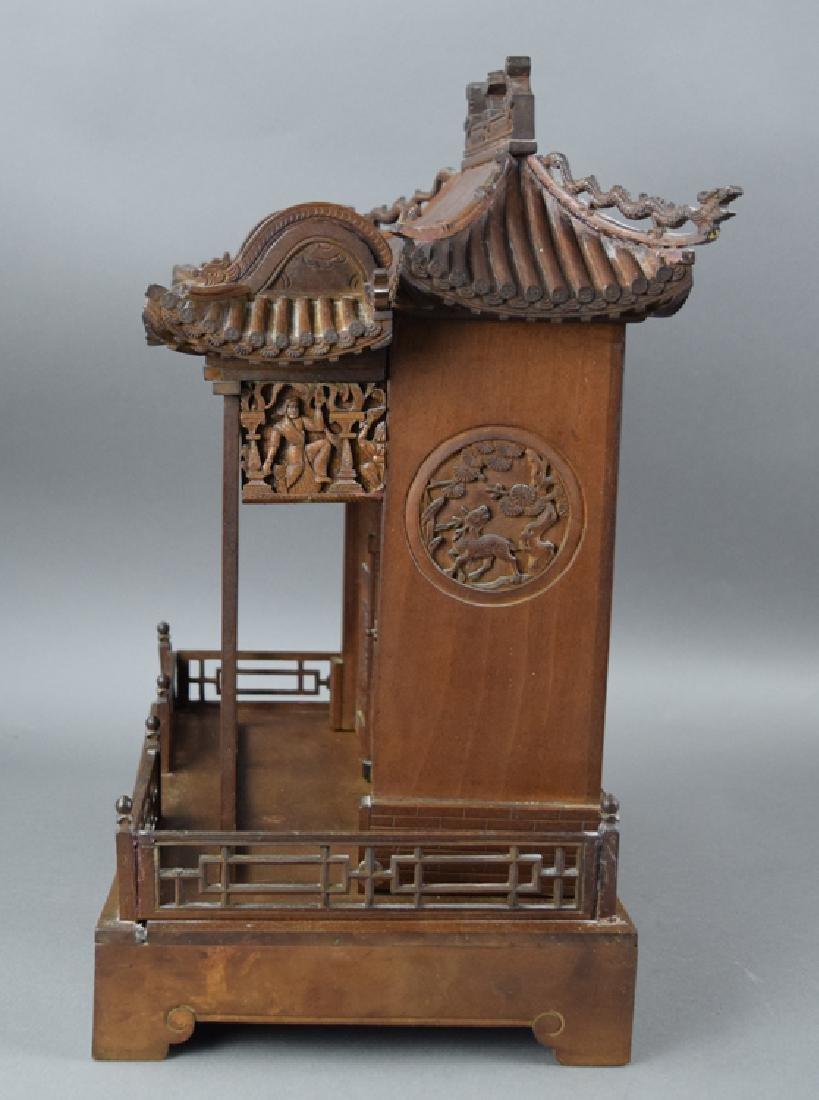 Chinese late Ming-early Qing carved Jinsi Nanmu - 8