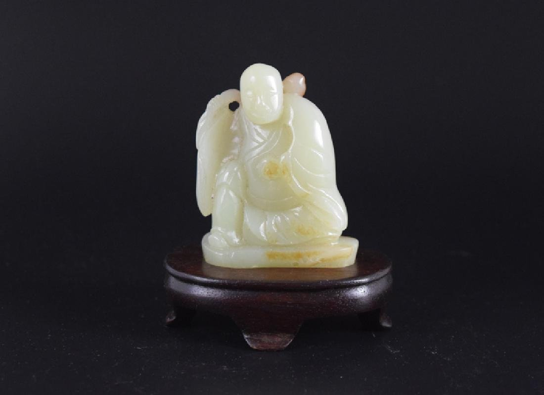 Chinese carved jade monk