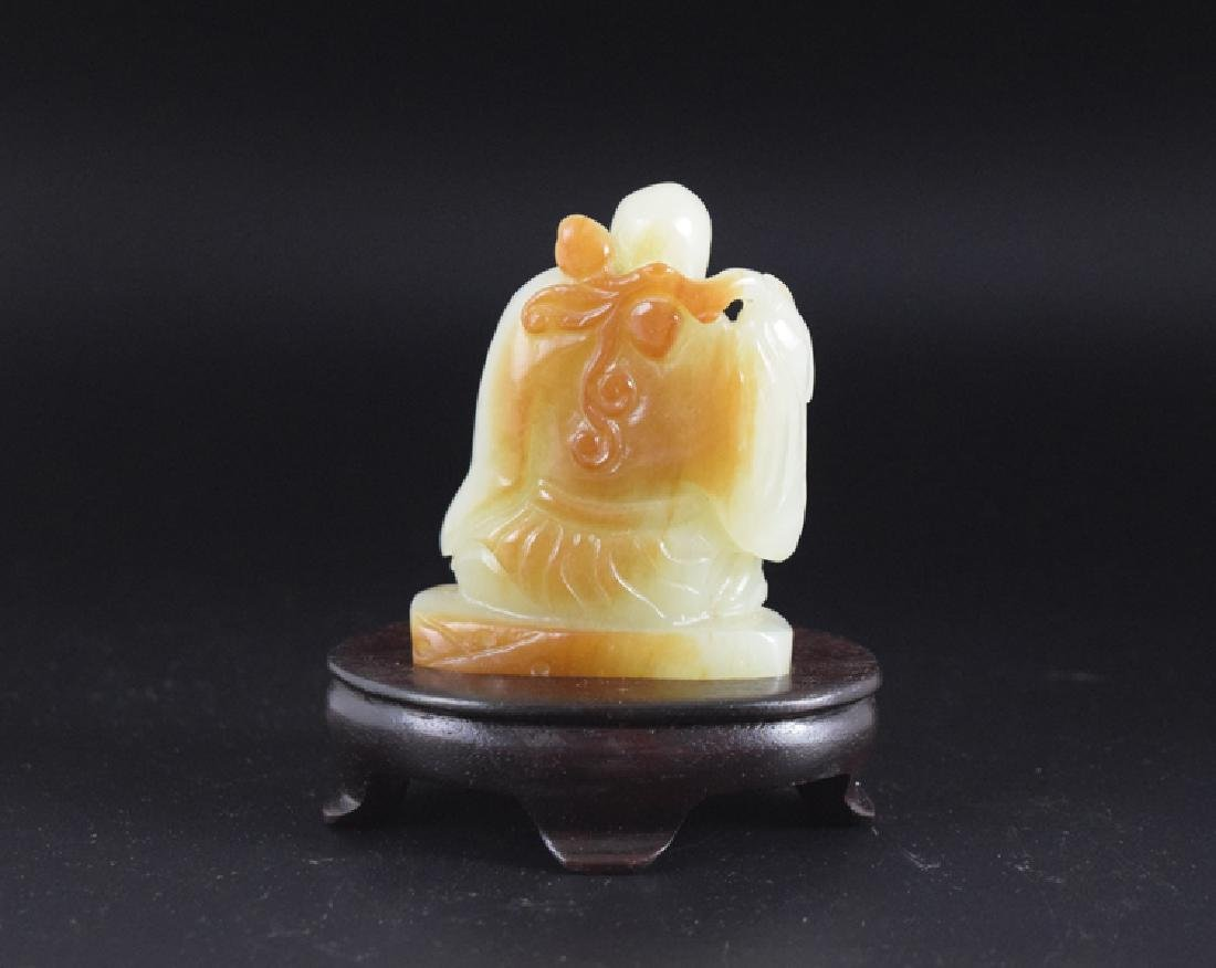 Chinese carved jade monk - 3