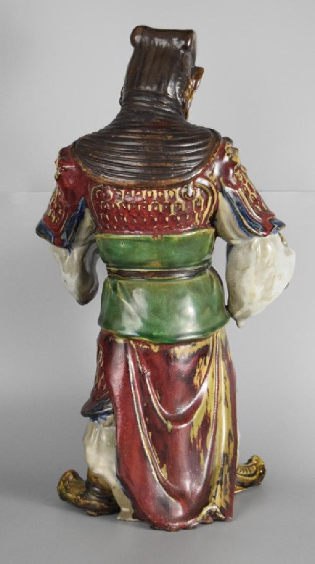 Chinese Shiwan ware pottery warrior - 5
