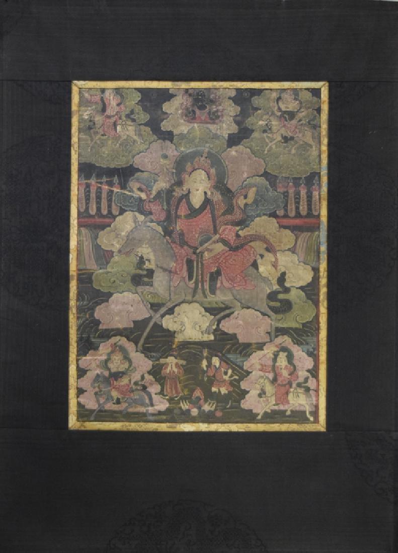 Chinese Tibetan Ming paint thangka