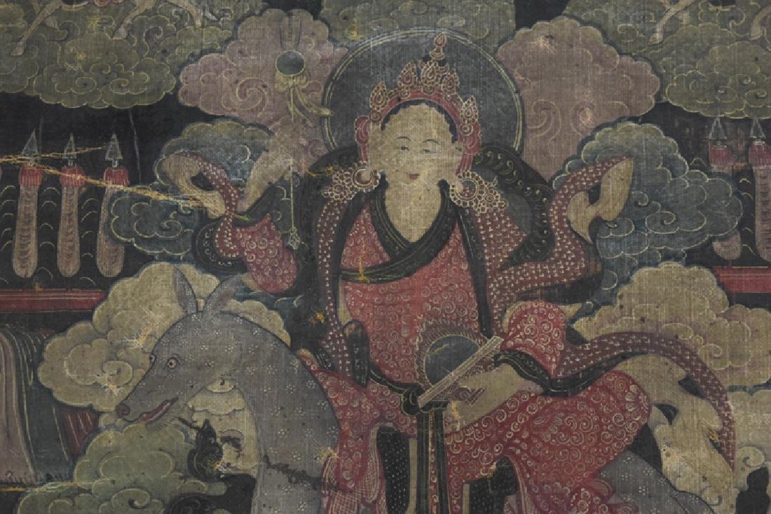 Chinese Tibetan Ming paint thangka - 3
