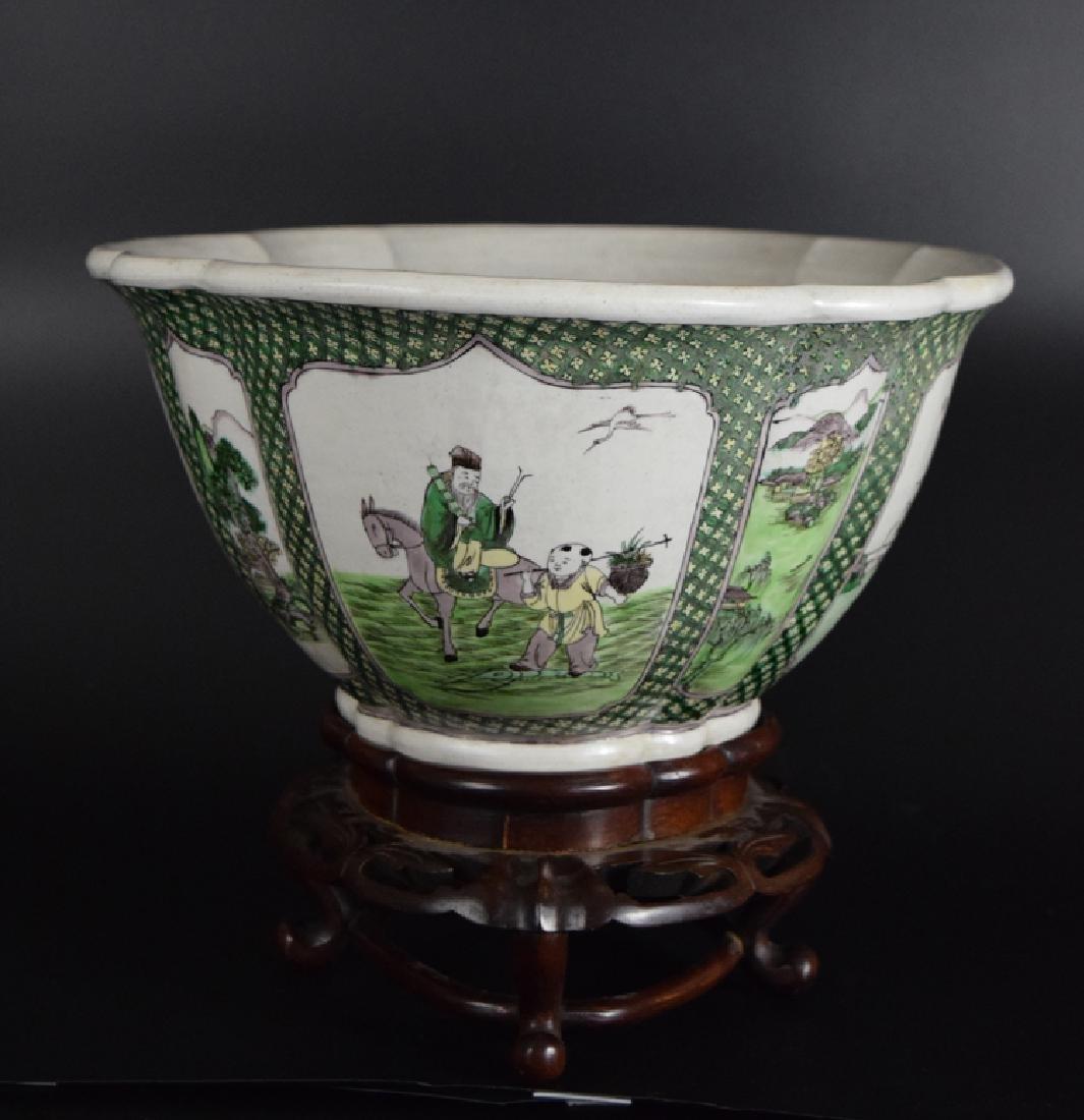 Chinese Qing Susancai porcelain planter - 2
