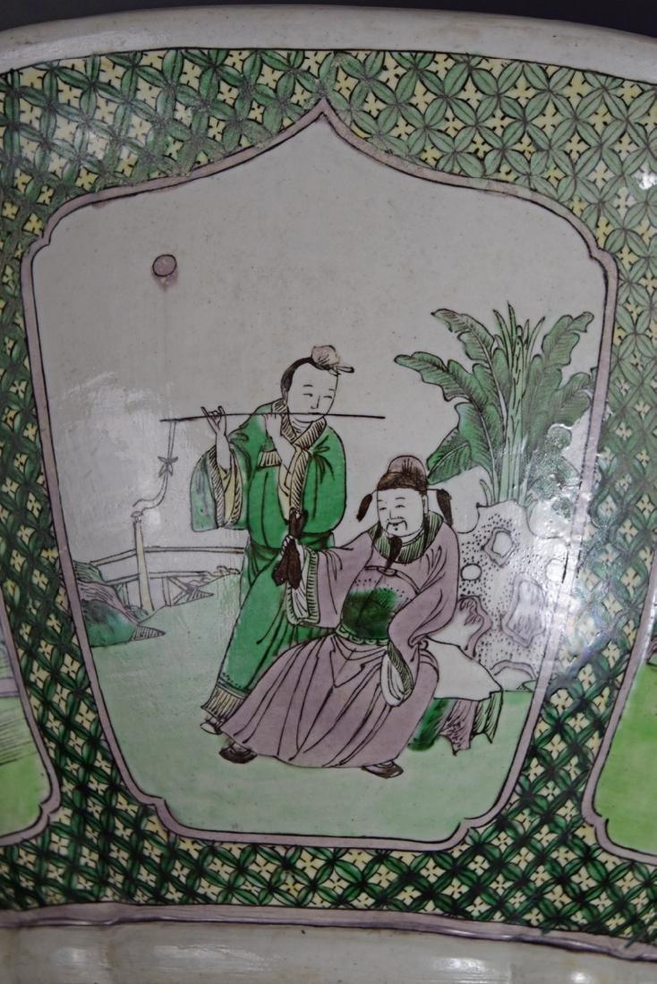 Chinese Qing Susancai porcelain planter - 4