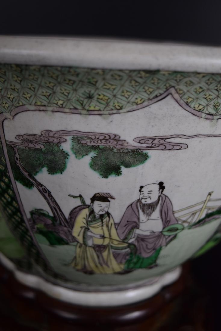 Chinese Qing Susancai porcelain planter - 5