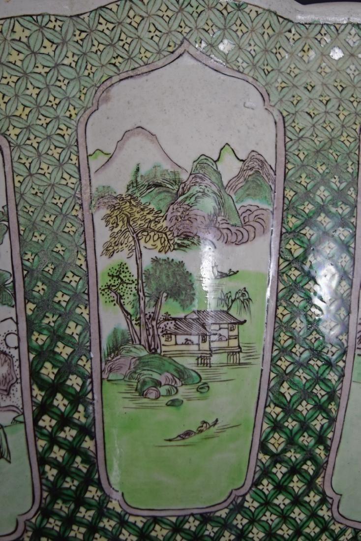 Chinese Qing Susancai porcelain planter - 8
