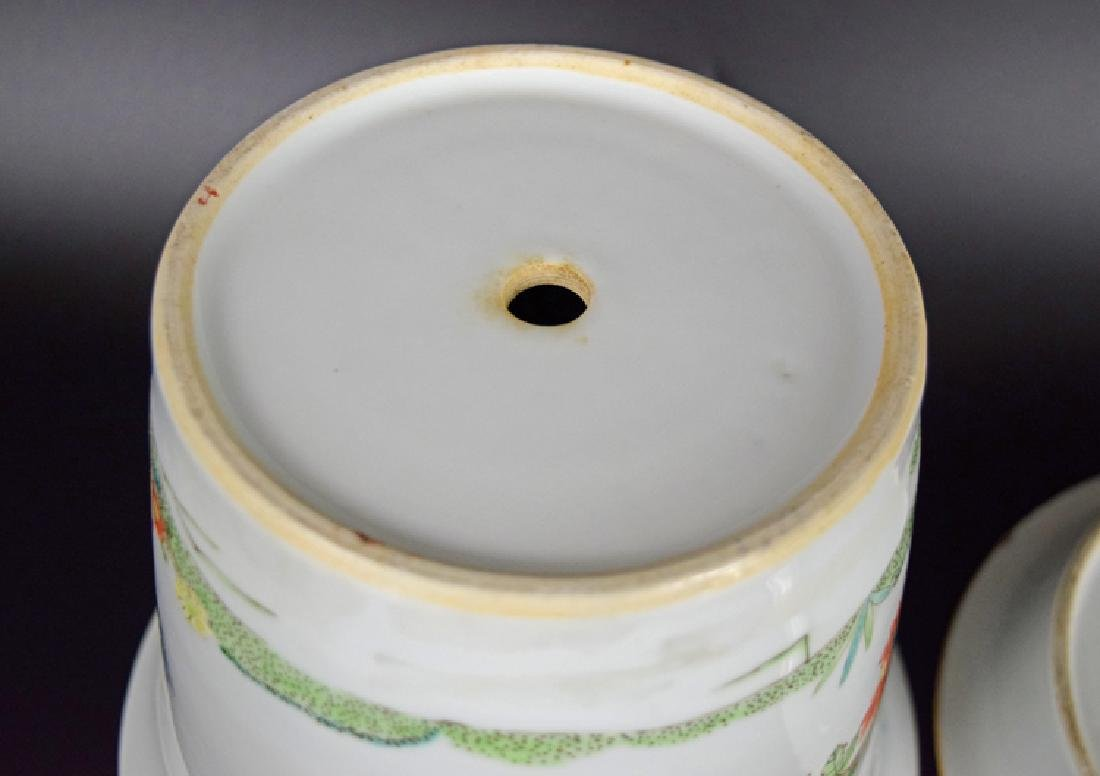 Chinese Republic famille rose porcelain planter with - 5