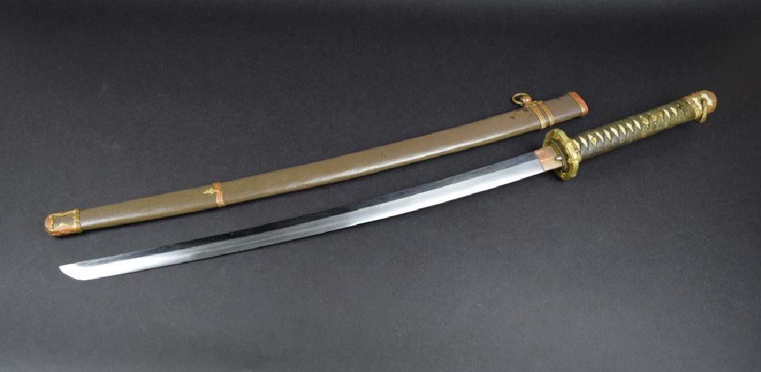 WWII Period Japanese Army Officer Katana Sword - 2