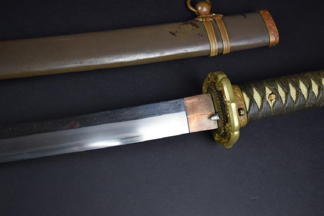 WWII Period Japanese Army Officer Katana Sword - 5
