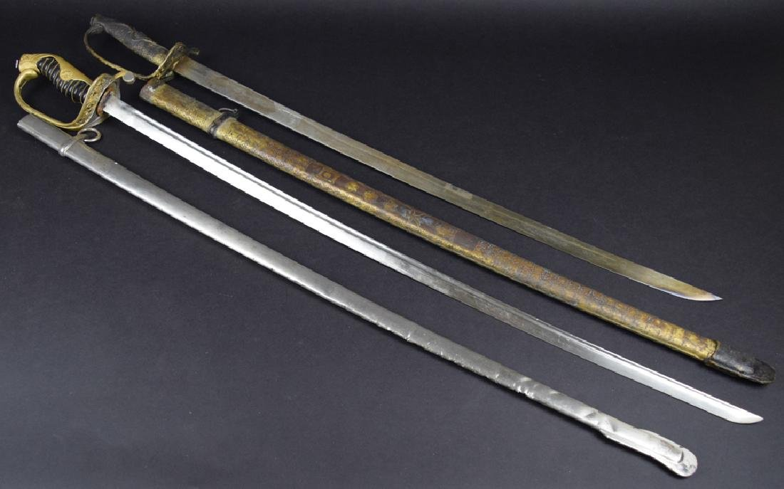 Lot of two Military dress swords