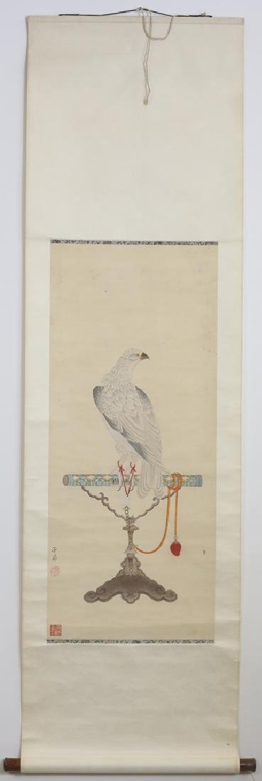 Chinese Qing watercolor painted scroll