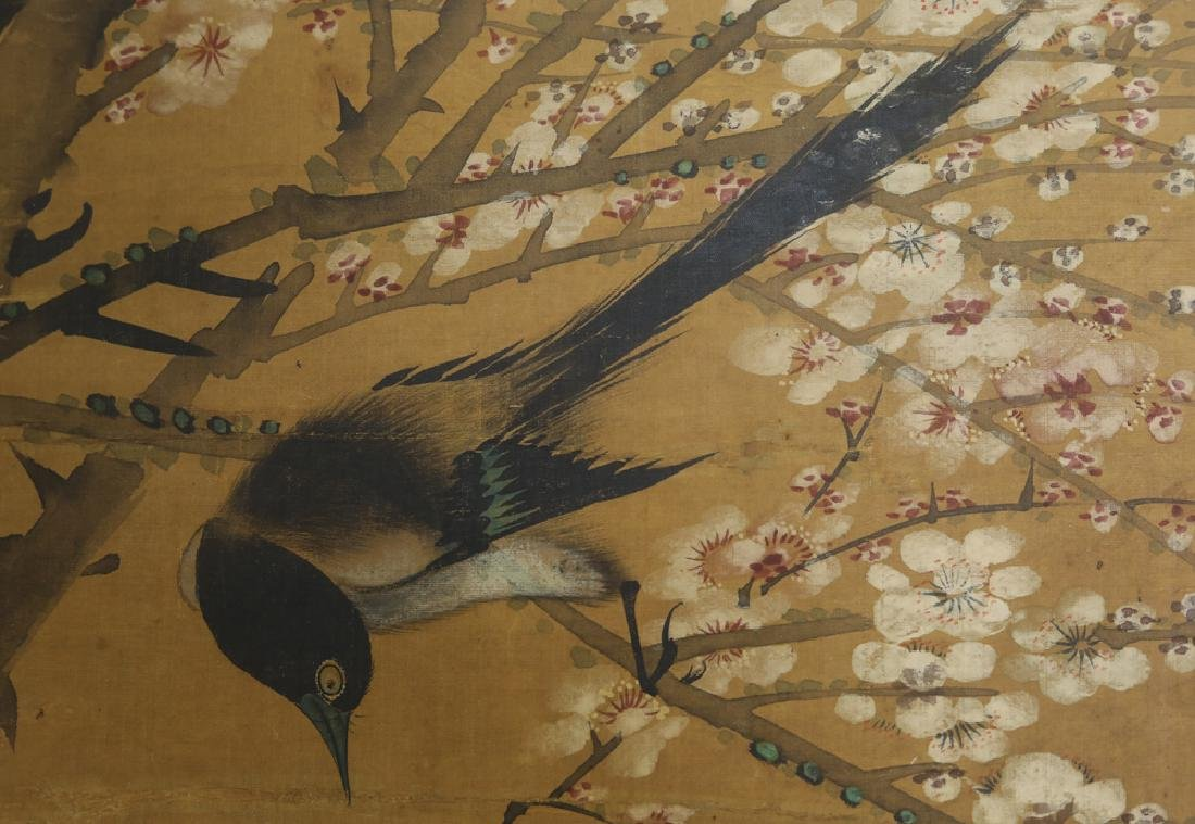 Chinese Qing watercolor painted on silk Scroll - 4