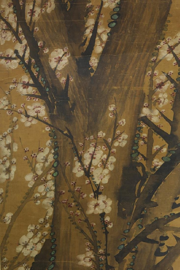 Chinese Qing watercolor painted on silk Scroll - 5
