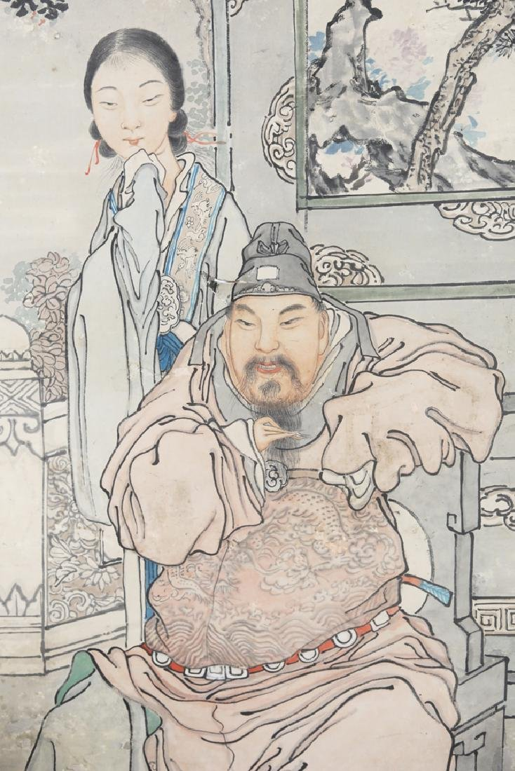 Chinese Republic watercolor painted scroll by Feng Run - 3