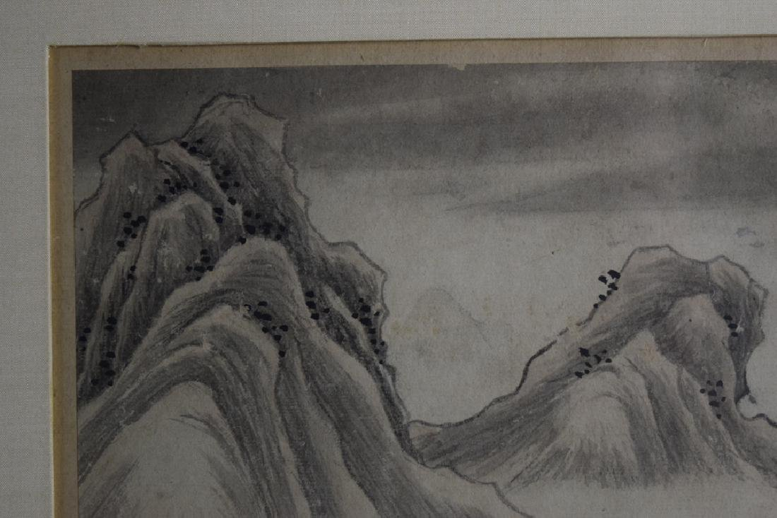 Pr.Chinese Qing framed water color painting - 6