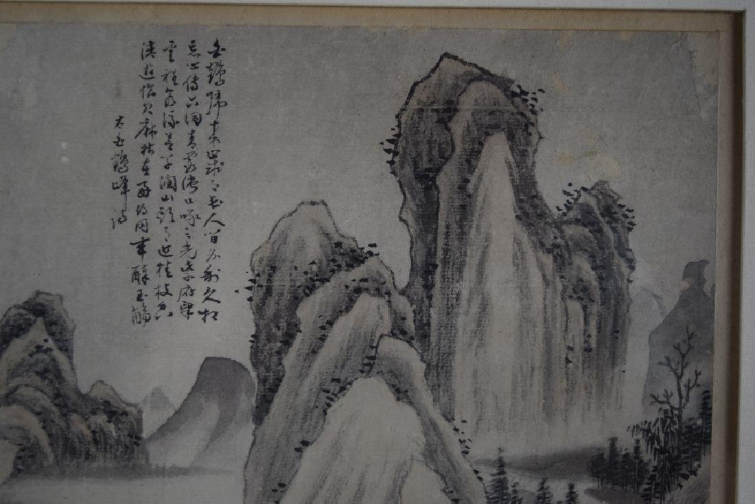 Pr.Chinese Qing framed water color painting - 8