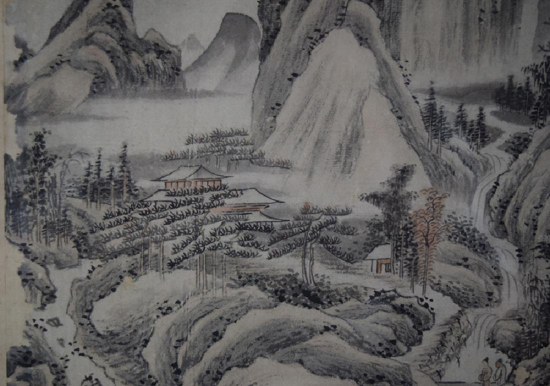 Pr.Chinese Qing framed water color painting - 9
