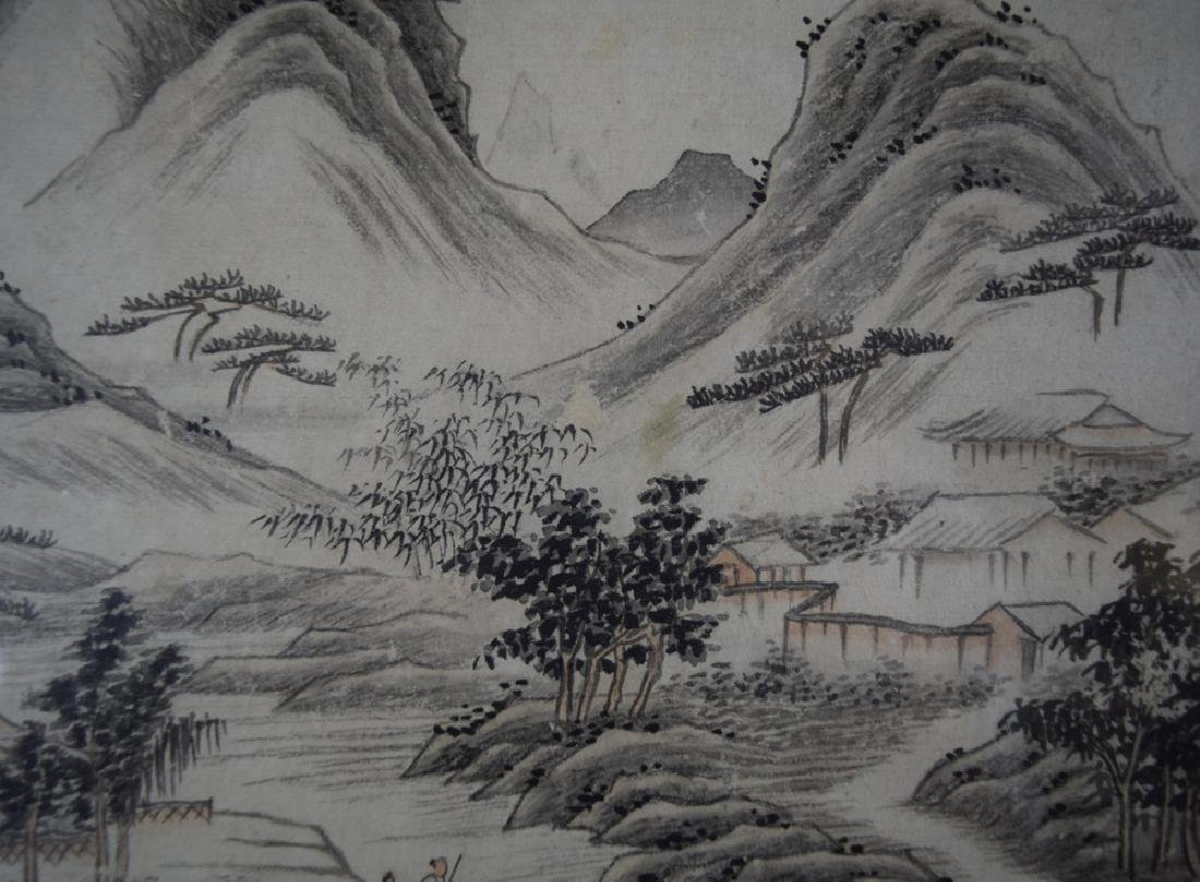 Pr. Chinese Qing framed watercolor painting - 10