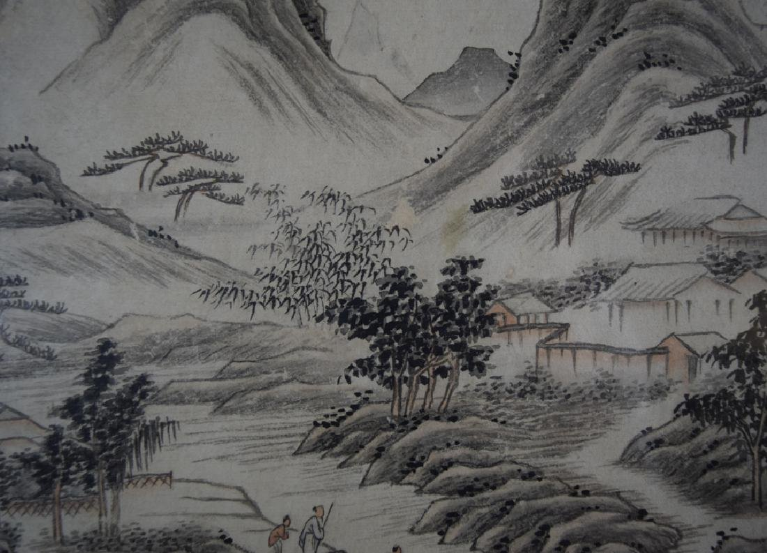 Pr. Chinese Qing framed watercolor painting - 3