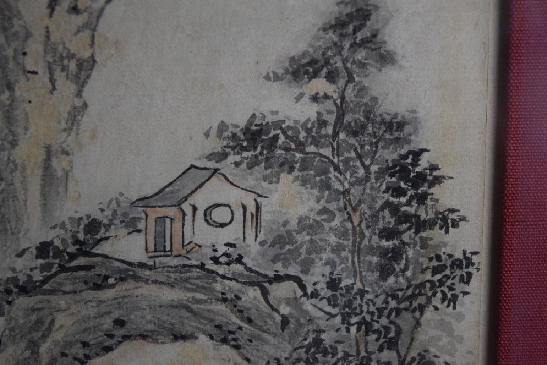 Pr. Chinese Qing framed watercolor painting - 5