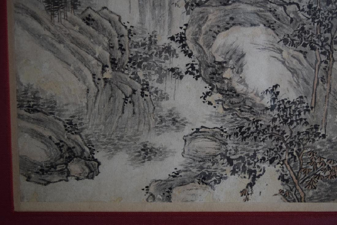 Pr. Chinese Qing framed watercolor painting - 7