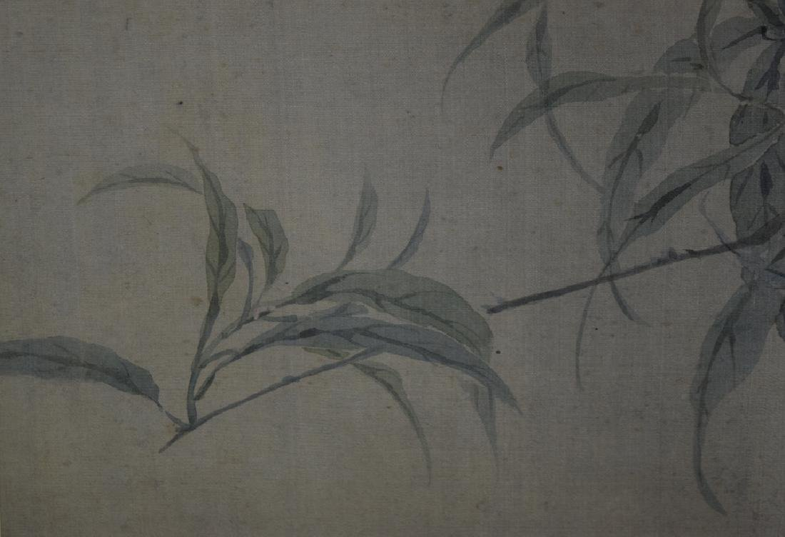 Chinese Qing framed watercolor painted on silk - 6