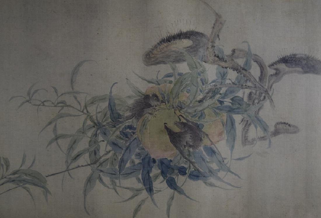 Chinese Qing framed watercolor painted on silk - 8