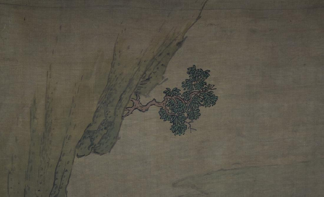 Chinese Qing watercolor painted on silk - 5