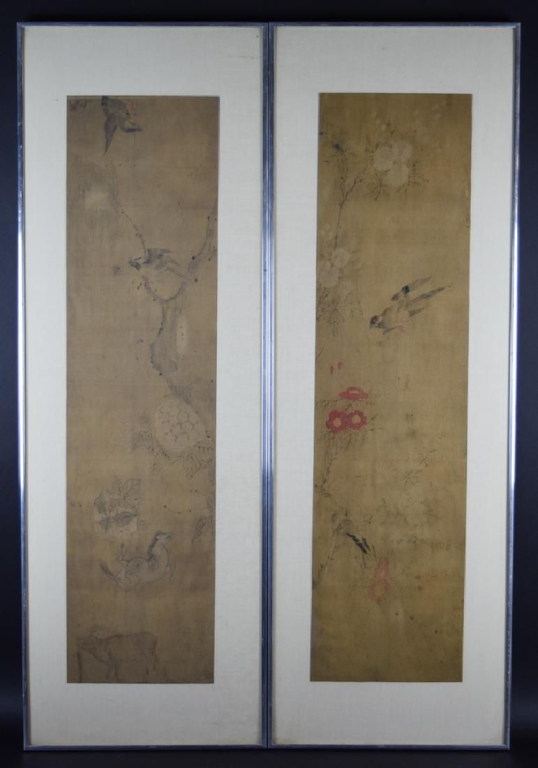 Pr. Chinesse Ming to Qing framed watercolor painted on