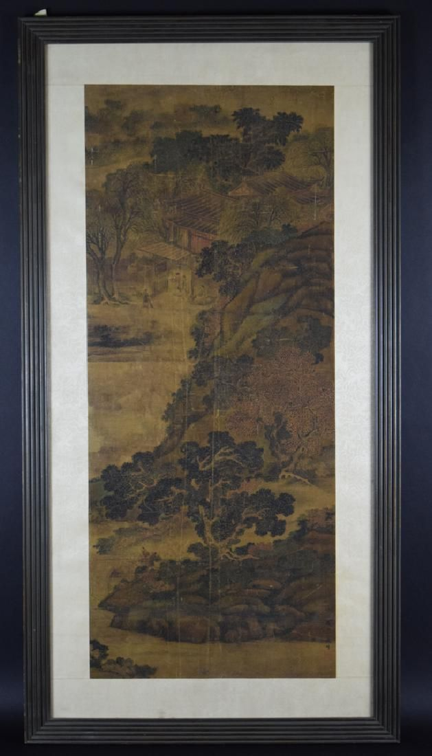 Chinese late Ming to Early Qing  framed watercolor