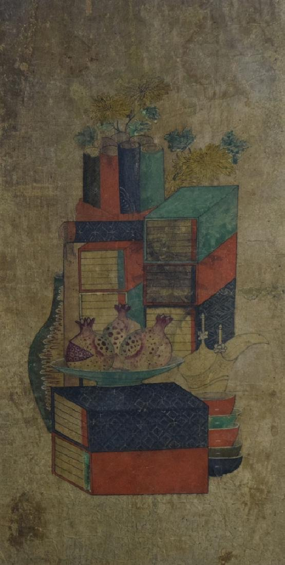 Set of two Chinese watercolor paintings - 2