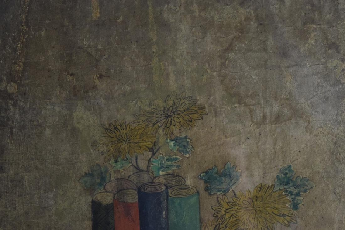 Set of two Chinese watercolor paintings - 3