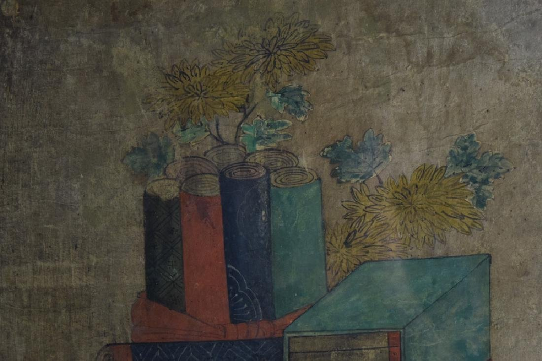 Set of two Chinese watercolor paintings - 4