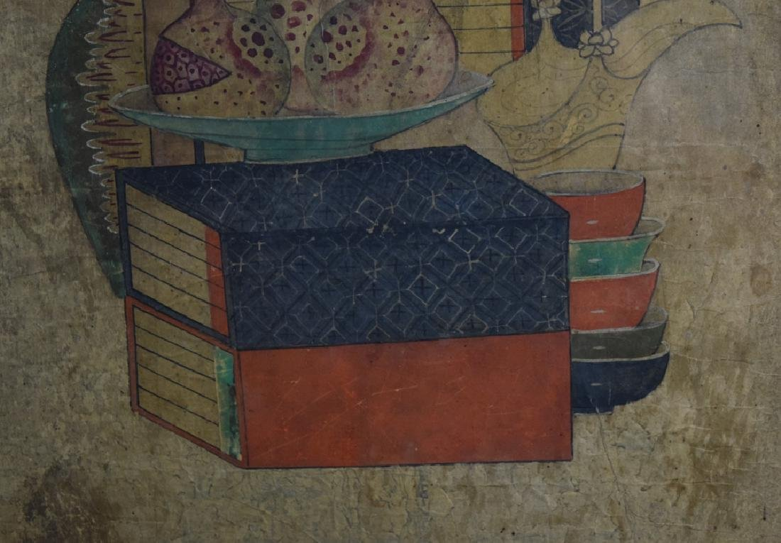 Set of two Chinese watercolor paintings - 6