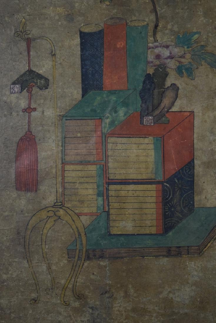 Set of two Chinese watercolor paintings - 8