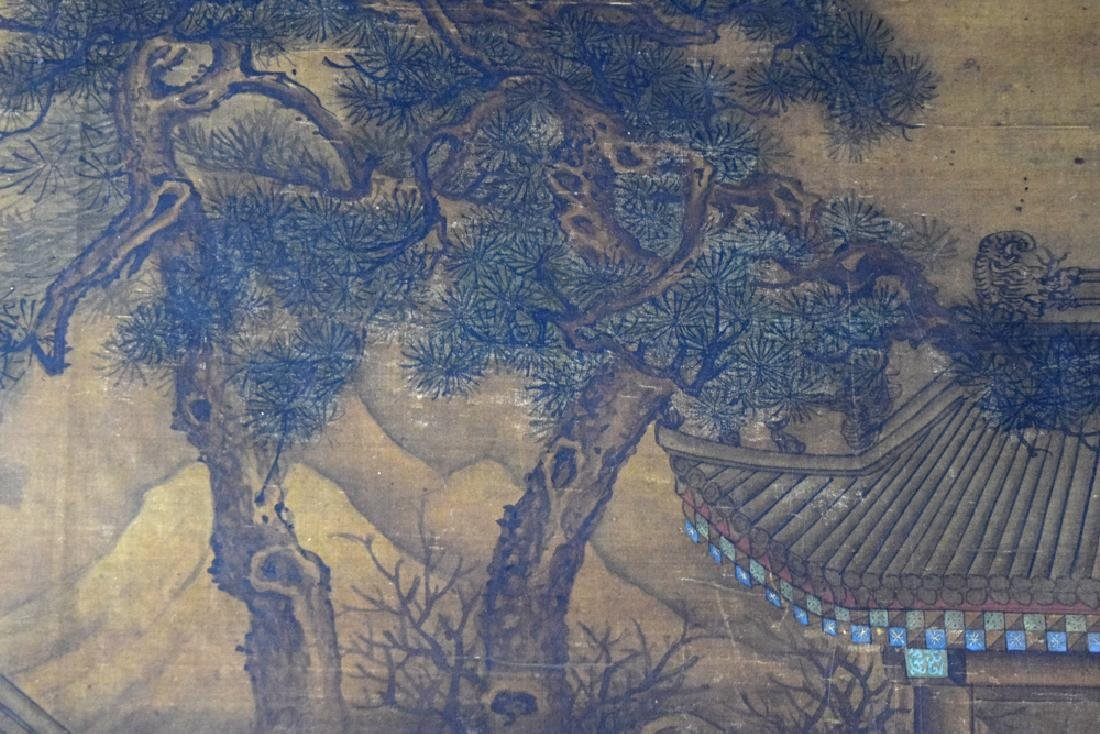 Chinese Antique framed watercolor painted on silk - 6