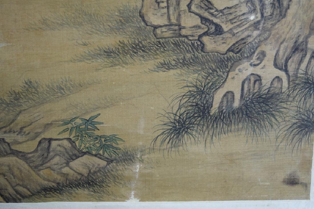 Chinese Ming watercolor painted on silk - 5