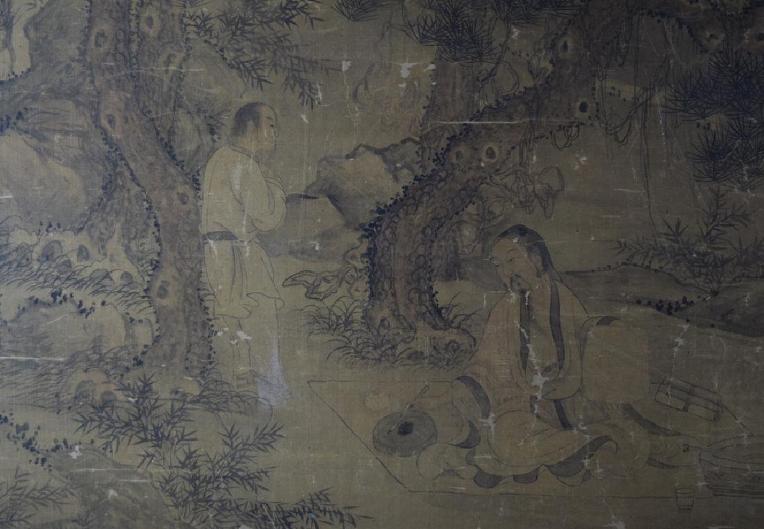 Rare Chinese antique watercolor painting - 10