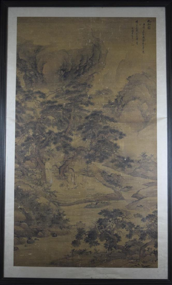 Rare Chinese antique watercolor painting
