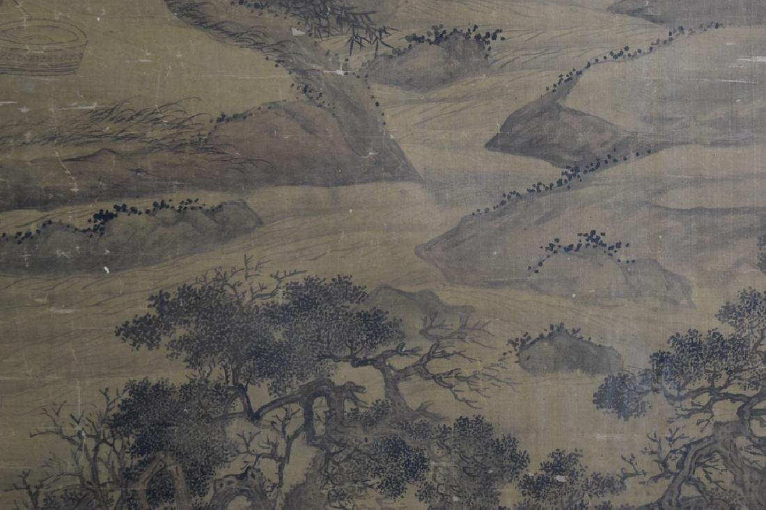 Rare Chinese antique watercolor painting - 8