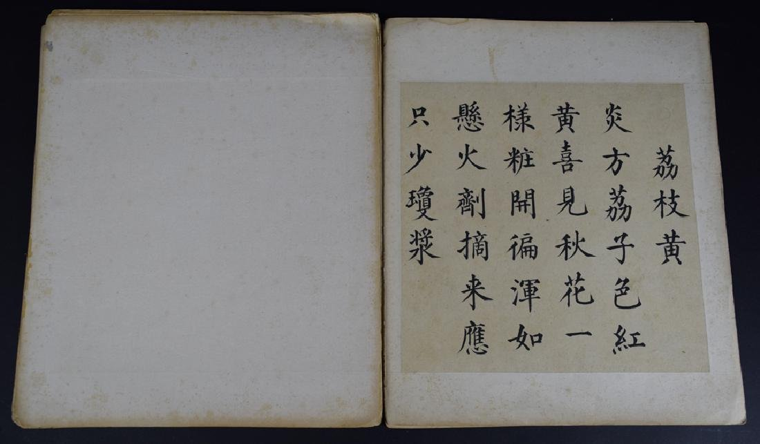 Twenty pages of Chinese calligraphy album of - 4